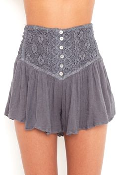 These shorts look just like a skirt... want it fo'sho. :)