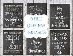 6 free Christmas Printables - ideas for outdoor chalk board