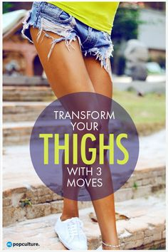 Healthy Living How To Tone Inner And Outer Thighs. These three exercises for women will tone inner and outer thighs will work to both strengthen and elongate those muscles. Weight Loss Diet Plan, Weight Loss Tips, Lose Weight, Reduce Cellulite, Senior Fitness, Easy Workouts, Butt Workouts, Along The Way, Get In Shape