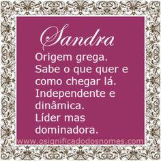 Significado do nome Sandra | Significado dos Nomes