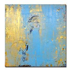 Blue......original acrylic painting abstract art. $100.00, via Etsy.