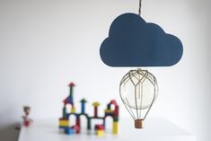 Handmade balloon pendant lamp