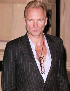 Famous Vegetarian Rock Stars: Sting from the 80s band the Police