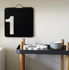 Via Six Black Dots | Normann Copenhagen Cart | Vignelli Perpetual Calendar