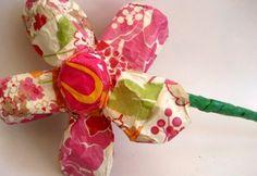 paper mache daisy from MaiseysDaiseys on etsy