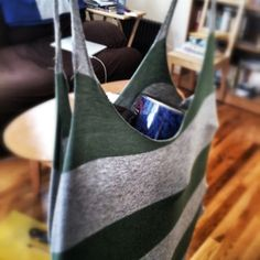 Repurposed shirt into bag Day 22: today's repurpose project. This is what I do when I'm at #home #photoadayaug #Snapseed