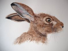 The Hare in the Dark Woods by Lucia Vils on Etsy