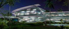 luxury exterior hotel panoramic design
