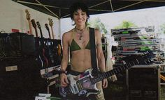 Joan Jett Bikini | JOAN JETT , who rode to the stage on a dirt bike, cracked a rare smile ...
