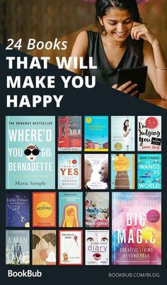 Feel-Good Books That Will Make You Happy A mix of fiction and nonfiction to brighten your spirits! 24 Feel-Good That Will Make You HappyA mix of fiction and nonfiction to brighten your spirits! 24 Feel-Good That Will Make You Happy Feel Good Books, Best Books To Read, I Love Books, My Books, Face Books, Great Books, Book To Read, Best Books Of All Time, Books To Read For Women