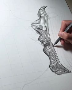 Line Art By Nester Formentera. Nester Formentera (known as Aartfinesse) was born in the Philippines but is based in Dublin, Ireland. For more details view website line art Line Art By Nester Formentera Pencil Art Drawings, Art Drawings Sketches, Linear Art, Arte Sketchbook, Abstract Line Art, Illusion Art, Art Graphique, Pen Art, Grafik Design