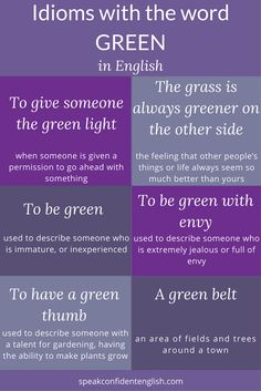 Just in time for spring when the world turns green and vibrant again! Add these fun idioms to your English vocabulary.