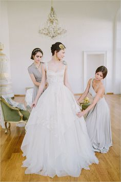 Wedding Tip: Be sure to take a photo of you and your bridesmaids getting ready.