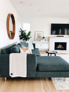 California Casual Family Room By Katie Monkhouse Interior Design // Gray  And White Living Room