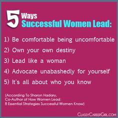 5 Ways Successful Women Lead