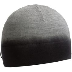 Icebreaker Aurora Beanie Hat - Merino Wool (For Men and Women) in Metor/Black