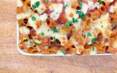 pressure cooker pasta with meat and cheese, includes directions for an electric pressure cooker