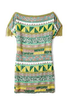 Jacara Aztec Beaded Mini Dress by Antik Batik