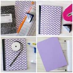 How to alter a Composition Book Corner punch ribbon paper glue gun. ...love this