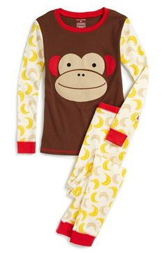Skip Hop 'Zoojamas - Monkey' Fitted Two-Piece Pajamas (Toddler Girls & Little Girls) available at #Nordstrom