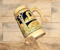 Vintage Bierkrug Original Wet Germany Bayern Oktoberfest Sammlerstück Keramik Porzellan Made in Germany by Vintage4Moms on Etsy