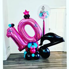 Birthday Party For Teens, Birthday Bash, Birthday Ideas, Blue Party Punches, Barbie Theme Party, Balloon Prices, Happy Balloons, Balloon Arrangements, Balloon Decorations Party
