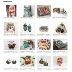 """""""Owl Kingdom"""" Treasury by Ermellin on Etsy"""