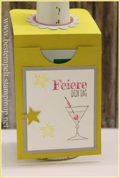 Stampin Up! giftcard, Flaschenanhänger, Traumpaar, Spruchreif