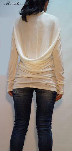 White Asymmetrical Sweater/Top Sweater Dress Knitwear/Casual Dress/Knitted Sweater Coat/Loose Sweater/Fine Knitt Blouse/F1225 by FloAtelier on Etsy https://www.etsy.com/uk/listing/195495343/white-asymmetrical-sweatertop-sweater