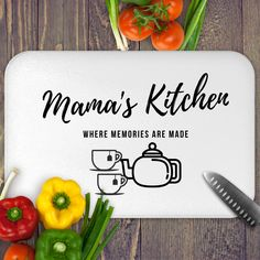 Excited to share this item from my #etsy shop: Personalized Glass Cutting Board for Mom's Kitchen, Grandmother's kitchen, Mothers Day Gift , Gift for mom, Grandmother, Nana, Nani, Mimi #mothersday #glass #cuttingboard #glasscuttingboard #personalizeglass #customboard #momskitchen #nanaskitchen #customgift #eidgift #giftformom  #housewarminggift #weddinggift #bridalshower #newhouse #newhome #graduationgift #birthdaygift #giftforcook #giftforchef #lovestocook #goodcook #bestbaker Farmhouse Kitchen Cabinets, Modern Farmhouse Kitchens, Kitchen Cabinet Design, Kitchen Backsplash, Open Kitchens, Backsplash Ideas, Grandmothers Kitchen, Diy Kit, Smitten Kitchen