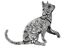 Zentangle Cat Art Print