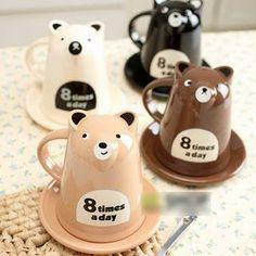 Printed Bear Mug