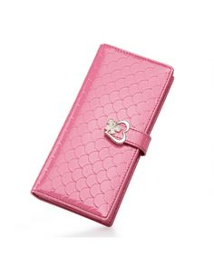 This #affordablewallet contains Cowhide Material with brand jacquard lining Inner material and magnetic snap closure opening In this #lovelywallets colors are available #rose and size of this #clutcheswallet is 9CM Bag length, 18.5CM Bag height