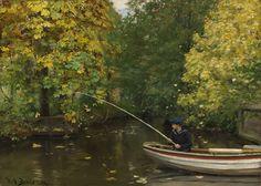 Датский художник Hans Andersen Brendekilde (1857-1942)__Fishing_Boy_(1890s)