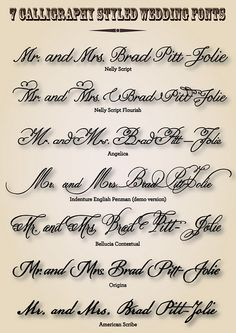 147 Best Wedding Fonts Images On Pinterest Letter Fonts Hand Type