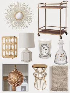 Sense & Sequins: Cream & Gold Interiors