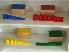 Montessori Materyallerinin görsel tanıtımı