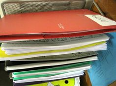 My Top 3 Classroom Organizational Tools for the 2013-2014 school year. This picture shows my system for managing all of those copies for each day of the week!