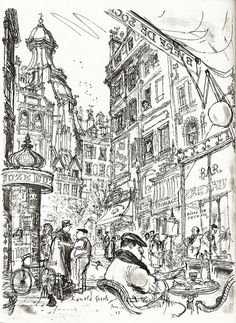 sketchbook / sketch | Ronald Searle, Paris Sketchbook