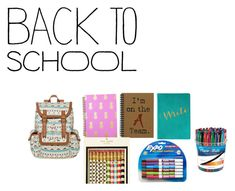 """""""Back To School Contest"""" by victaletdjamba ❤ liked on Polyvore featuring interior, interiors, interior design, casa, home decor, interior decorating, SM New York, Kate Spade, Paper Mate e BackToSchool"""