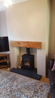 Most recent Absolutely Free Fireplace Remodel hearth Suggestions Best Pics Fireplace Remodel slate Ideas Dean Forge Dartmoor 5 Wood Stove – Steel stud false chim Wood Burner Fireplace, Slate Fireplace, Fireplace Hearth, Home Fireplace, Fireplace Remodel, Living Room With Fireplace, Fireplace Design, Home Living Room, Fireplaces