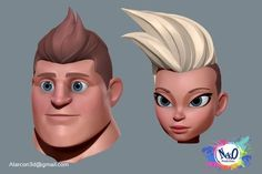 Neko Characters on Behance - Modern Zbrush Character, Character Modeling, Comic Character, Character Concept, 3d Modeling, Cartoon Faces, 3d Cartoon, Cartoon Styles, Manga 3d