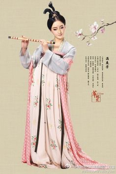 Hanfu: traditional Chinese costume.
