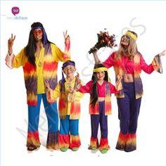 #Disfraces de #Carnaval de #Hippies para grupos #mercadisfraces tienda de #disfraces online, #disfraces #originales y baratos para tus fiestas de #carnaval o #halloween