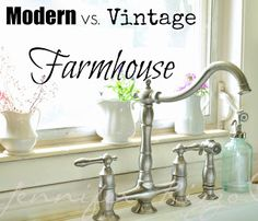 The difference between modern vs.vintage farmhouse. This is good with the cabinets. Definitely a winner.