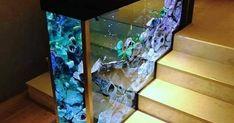 Aquarium design 👌 👌 👌 Aquarium Design, Terrarium, Bungalow, Gadgets, Flooring, Interior Design, Table, Home Decor, Art