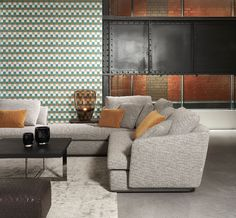 wallcoverings for the ultimate in refinement Studio 54, Estilo Retro, Vinyl Wallpaper, Stitching Leather, Colours, Couch, Luxury, Plaza, Furniture