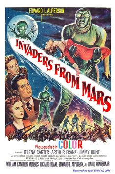 American Gift Services - Invaders from Mars Vintage Science Fiction and Fantasy Sci Fi Movie Art Poster - Classic Sci Fi Movies, Classic Movie Posters, Movie Poster Art, Poster S, Print Poster, Old Sci Fi Movies, Sf Movies, Comedy Movies, Film Science Fiction