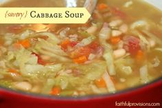 Savory Cabbage Soup from FaithfulProvisions.com