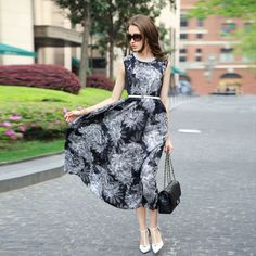 new arrival free shipping women's 2014 summer print sleeve length skirt female one-piece dress $75.90